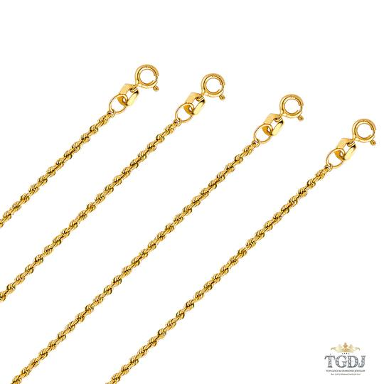 Top Gold & Diamond Jewelry 14k Yellow Gold 1.5 mm Hollow Rope Regular Chain - 24