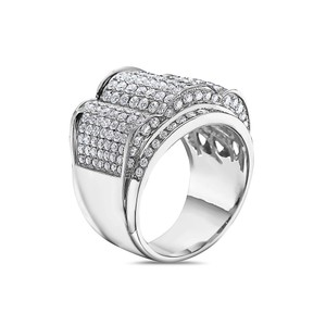 OMI Jewelry Men's 14K White Gold Ring with 4.91 CT Diamonds