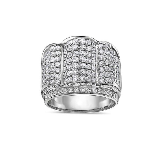 OMI Jewelry Men's 14K White Gold Ring with 4.91 CT Diamonds Image 2