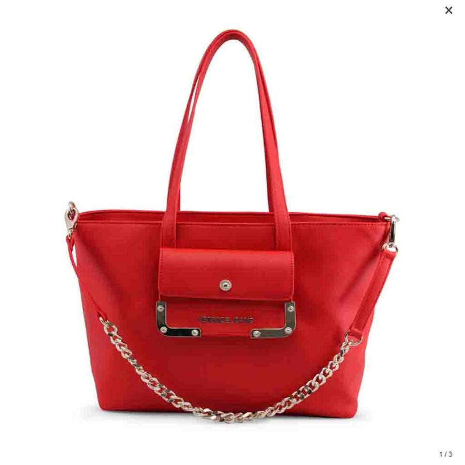 34c60a2db08 Versace Jeans Collection Red Faux Leather Shoulder Bag - Tradesy