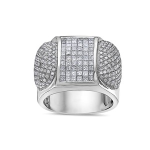 OMI Jewelry Men's 14K White Gold Ring with 3.20 CT Diamonds
