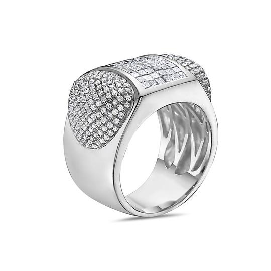OMI Jewelry Men's 14K White Gold Ring with 3.20 CT Diamonds Image 1