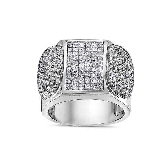 OMI Jewelry Men's 14K White Gold Ring with 3.20 CT Diamonds Image 2