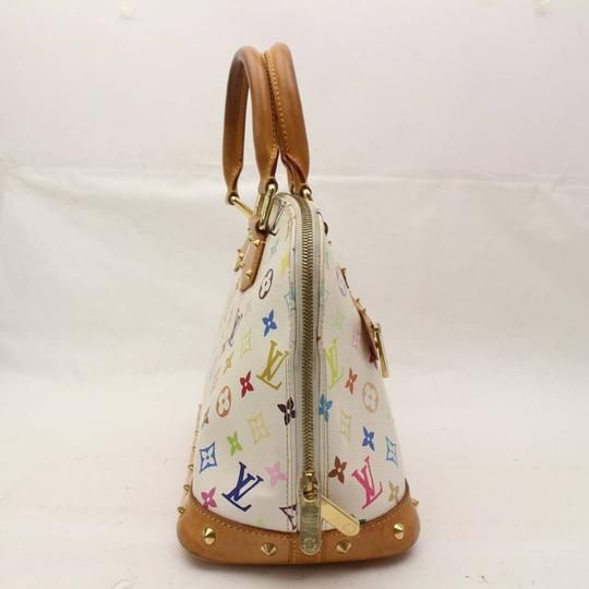Louis Vuitton Amal Speedy Multicolore Murakami Limited Edition Satchel in White Image 7