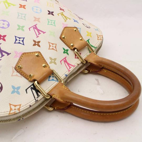 Louis Vuitton Amal Speedy Multicolore Murakami Limited Edition Satchel in White Image 9