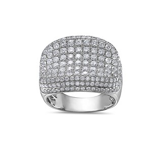 OMI Jewelry Men's 14K White Gold Ring with 4.48 CT Diamonds
