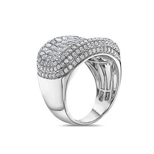 OMI Jewelry Men's 14K White Gold Ring with 4.48 CT Diamonds Image 1