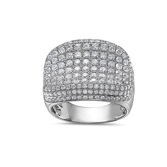 OMI Jewelry Men's 14K White Gold Ring with 4.48 CT Diamonds Image 2