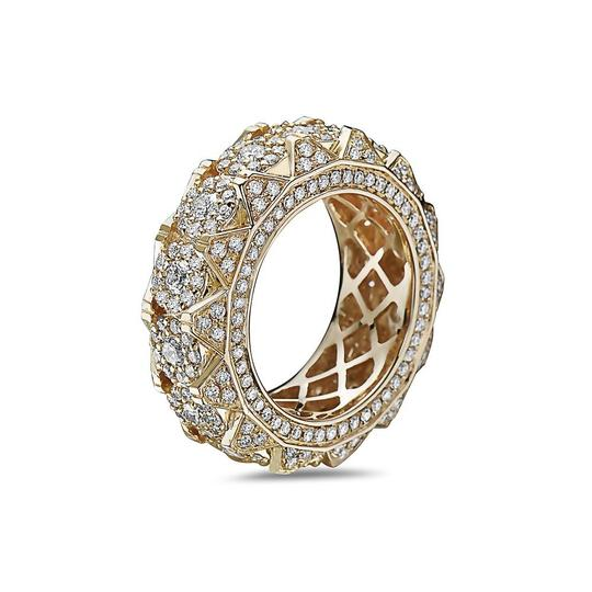 OMI Jewelry Men's 14K Yellow Gold Eternity Band with 4.85 CT Diamonds Image 1