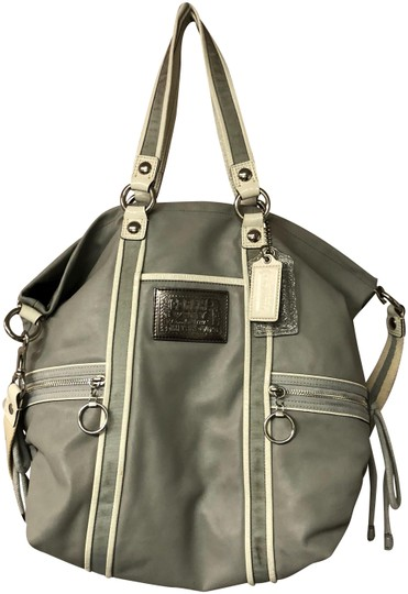 Preload https://img-static.tradesy.com/item/24287719/coach-white-trim-light-satchel-gray-leather-cross-body-bag-0-1-540-540.jpg