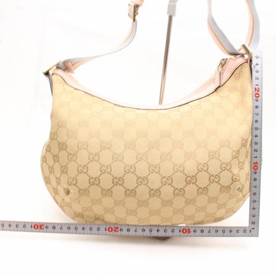 Gucci Crescent Messenger Croissant Web Sherry Cross Body Bag Image 5