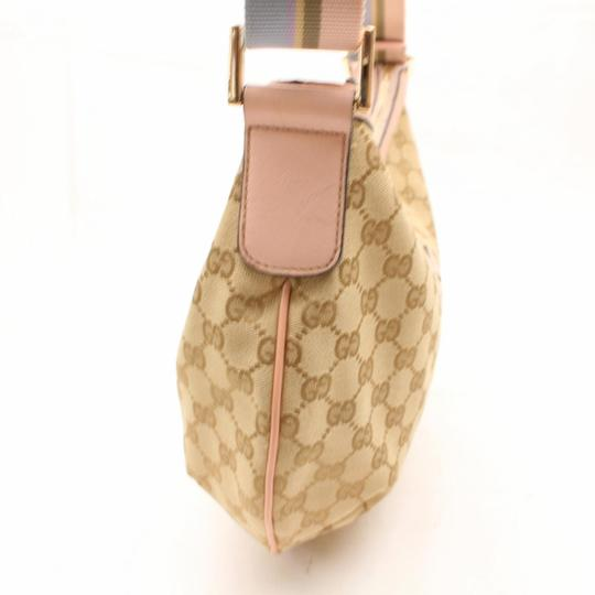Gucci Crescent Messenger Croissant Web Sherry Cross Body Bag Image 7