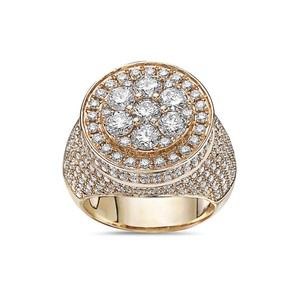 OMI Jewelry Men's 14K Yellow Gold Ring with 5.30 CT Diamonds
