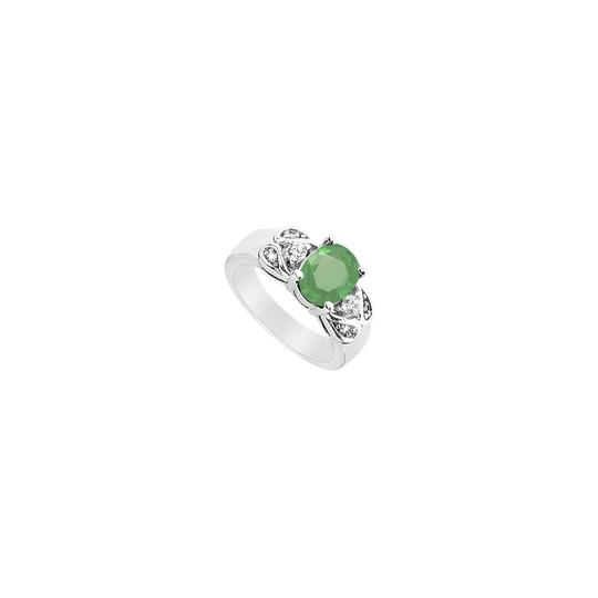 Preload https://img-static.tradesy.com/item/24287801/green-created-emerald-and-cubic-zirconia-925-sterling-silver-225-ct-tg-ring-0-0-540-540.jpg