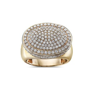 OMI Jewelry Men's 14K Yellow Gold Ring with 2.66 CT Diamonds