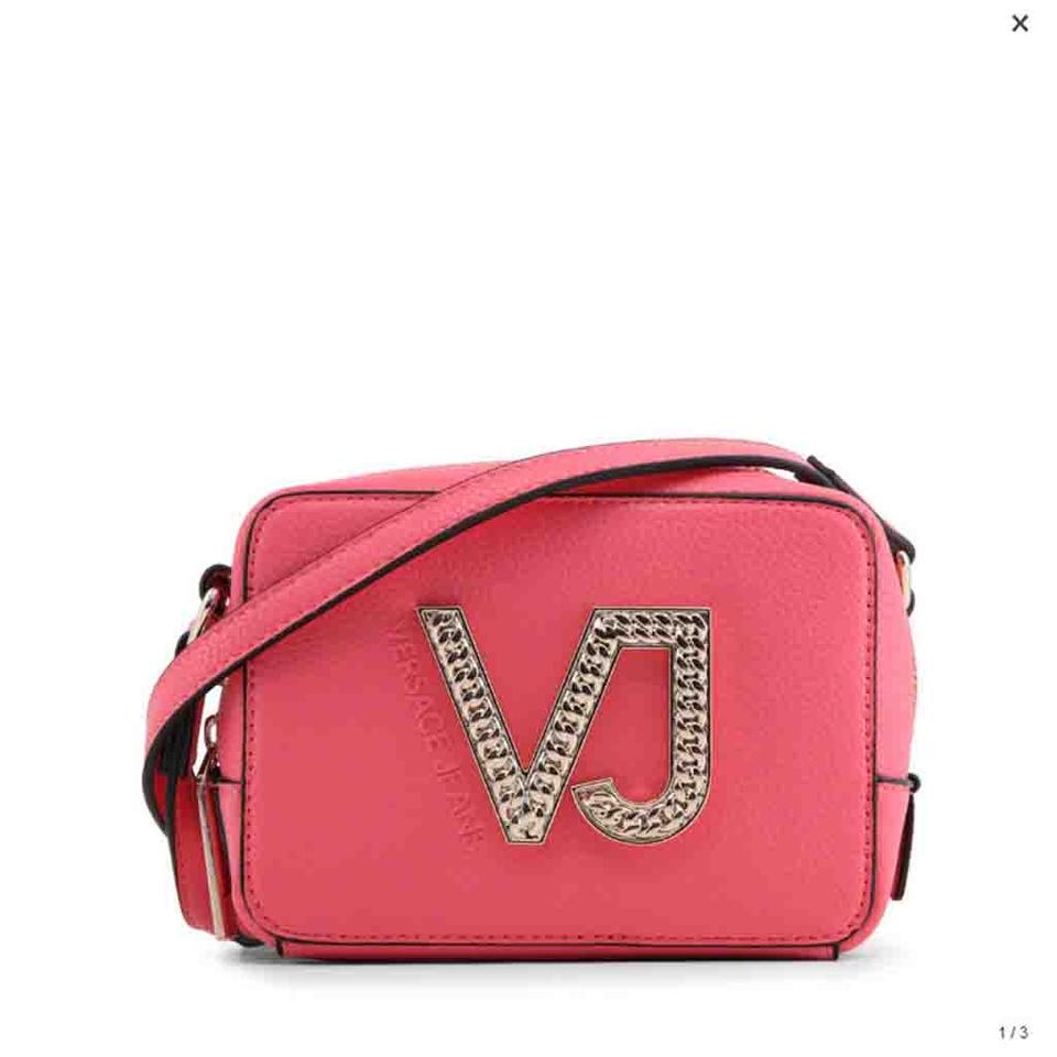 b1f86c3c47 Versace Jeans Collection Pink Faux Leather Cross Body Bag - Tradesy