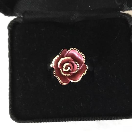 TheresaLuxury 18K White Gold Rose Ring Sz 8 Image 1