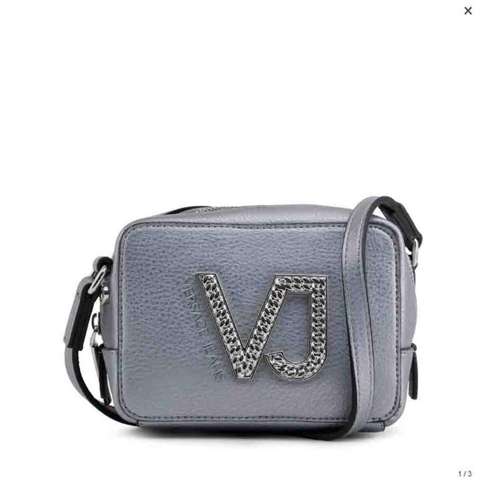 367d54eddc9a Versace Jeans Collection Grey Faux Leather Cross Body Bag - Tradesy