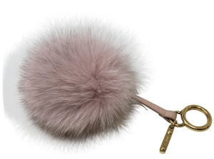 Fendi Light pink tan Fendi fox fur pom-pom bag charm