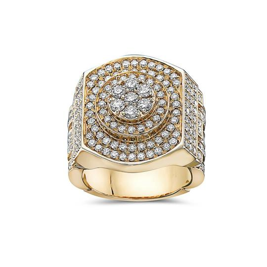 OMI Jewelry Men's 14K Yellow Gold Ring with 3.05 CT Diamonds Image 2