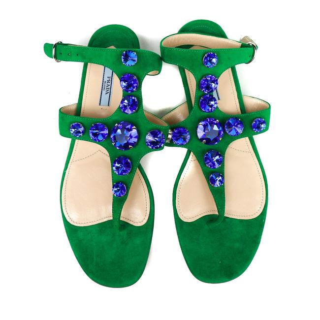 Item - Green / Blue New: with Dustbag Sandals Size US 10.5 Regular (M, B)