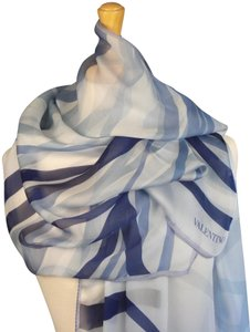 Valentino Nautical, Yacht or Country Club, May Day Couture Silk Satin Stole Wrap