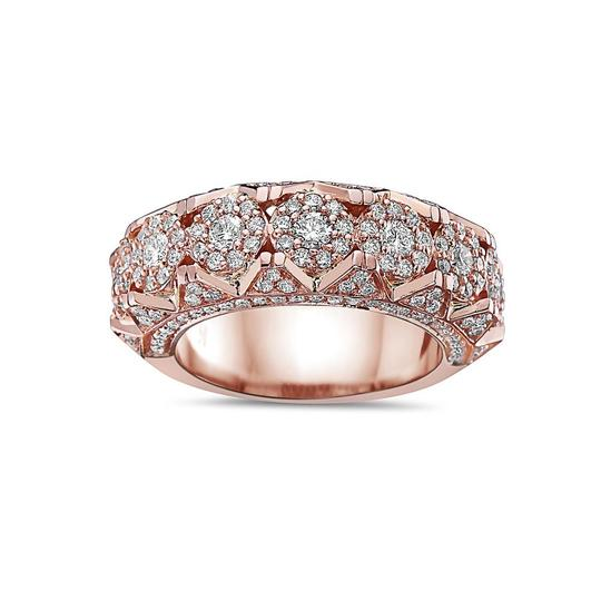 OMI Jewelry Men's 14K Rose Gold Anniversary Band with 2.35 CT Diamonds Image 2