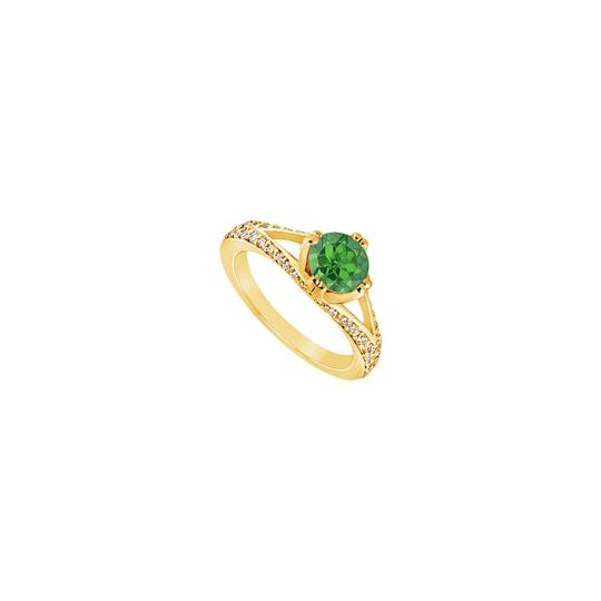 Preload https://img-static.tradesy.com/item/24287942/green-created-emerald-and-cubic-zirconia-engagement-yellow-gold-vermeil-ring-0-0-540-540.jpg