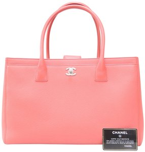 Chanel Cerf Calfskin Satchel in peachblossom