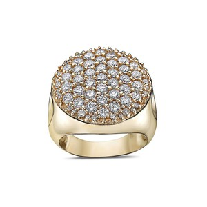 Joey O Men's 14K Yellow Gold Ring with 3.30 CT Diamonds