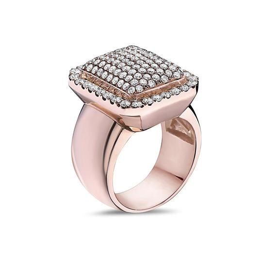 OMI Jewelry Men's 14K Rose Gold Ring with 2.57 CT Diamonds Image 1