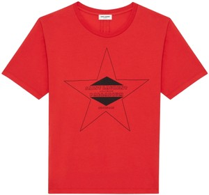 Saint Laurent T Shirt Red/Black