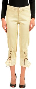 Roberto Cavalli Capri/Cropped Pants Off White