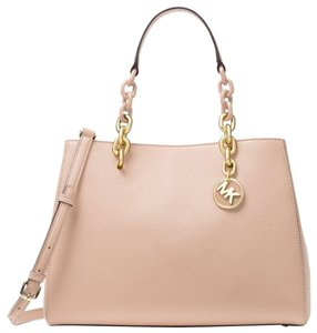 Michael Kors Leather 30f7gcys2l Satchel in Soft Pink
