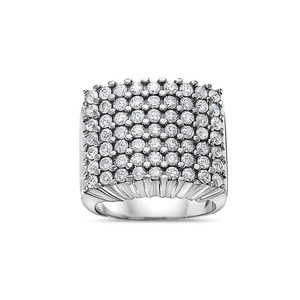 OMI Jewelry Men's 10K White Gold Ring with 3.41 CT Diamonds