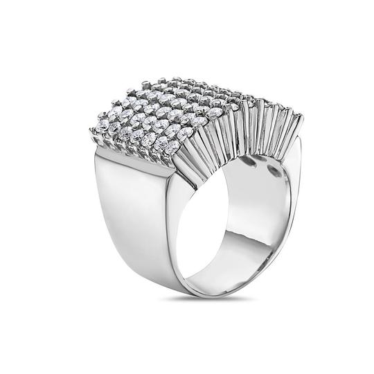 OMI Jewelry Men's 10K White Gold Ring with 3.41 CT Diamonds Image 1