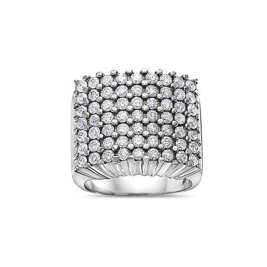 OMI Jewelry Men's 10K White Gold Ring with 3.41 CT Diamonds Image 2