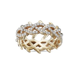 OMI Jewelry Men's 14K Yellow Gold Eternity Band with 2.75 CT Diamonds
