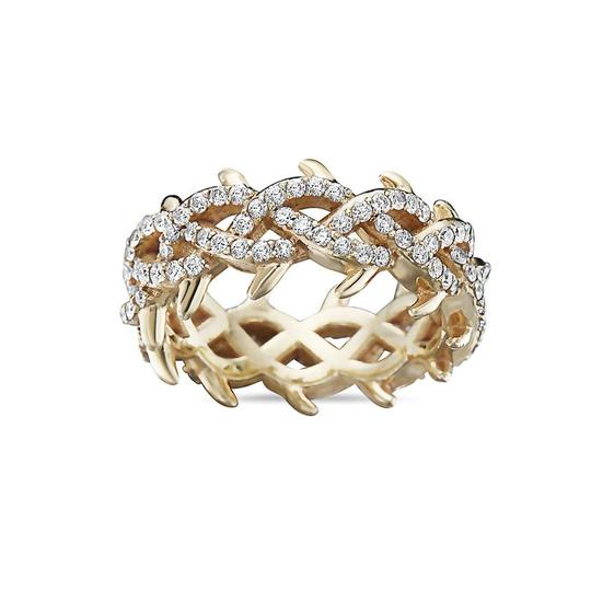 OMI Jewelry Men's 14K Yellow Gold Eternity Band with 2.75 CT Diamonds Image 2