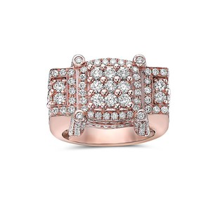 OMI Jewelry Men's 14K Rose Gold Ring with 4.64 CT Diamonds