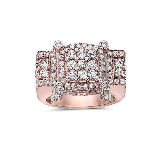 OMI Jewelry Men's 14K Rose Gold Ring with 4.64 CT Diamonds Image 2