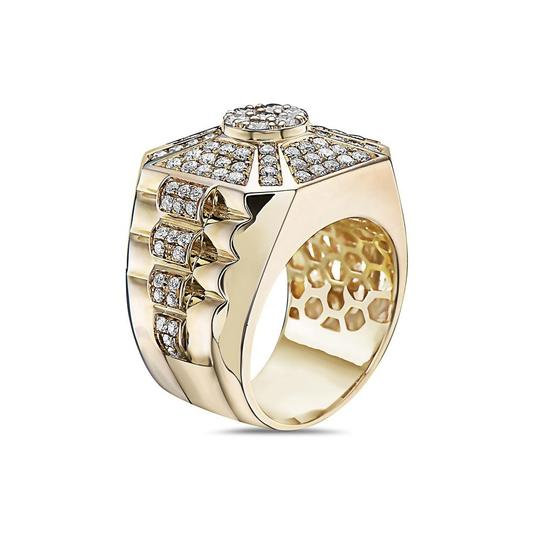 OMI Jewelry Men's 14K Yellow Gold Ring with 2.22 CT Diamonds Image 1