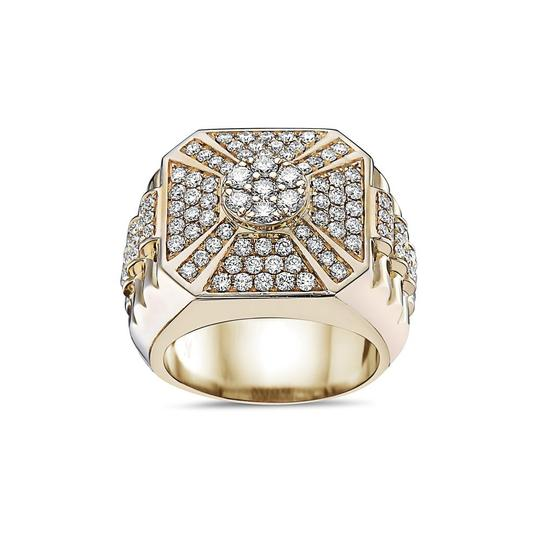 OMI Jewelry Men's 14K Yellow Gold Ring with 2.22 CT Diamonds Image 2