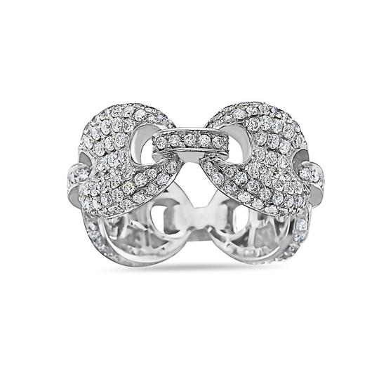 OMI Jewelry Men's 14K White Gold Chain Ring with 3.54 CT Diamonds Image 1