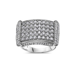 OMI Jewelry Men's 14K White Gold Ring with 4.75 CT Diamonds
