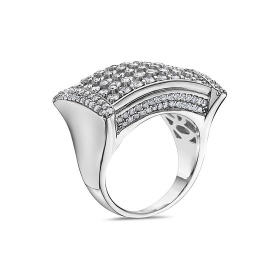 OMI Jewelry Men's 14K White Gold Ring with 4.75 CT Diamonds Image 1