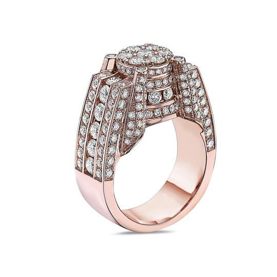 OMI Jewelry Men's 14K Rose Gold Ring with 4.91 CT Diamonds Image 1