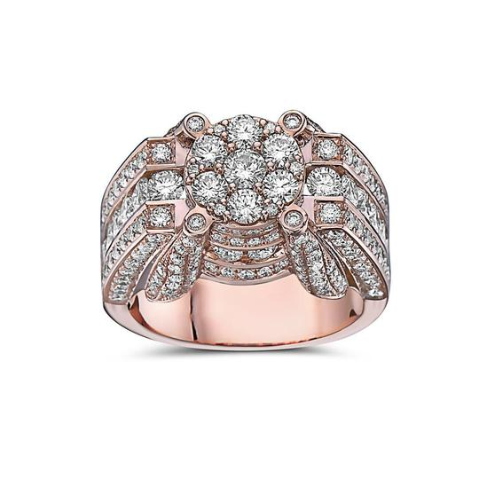 OMI Jewelry Men's 14K Rose Gold Ring with 4.91 CT Diamonds Image 2