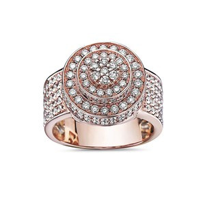 OMI Jewelry Men's 14K Rose Gold Ring with 2.51 CT Diamonds