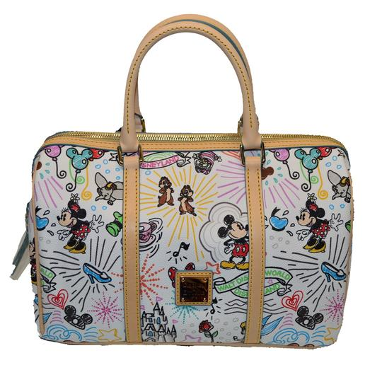Preload https://img-static.tradesy.com/item/24288362/dooney-and-bourke-sketch-mickey-mouse-barrel-white-coated-canvas-satchel-0-0-540-540.jpg